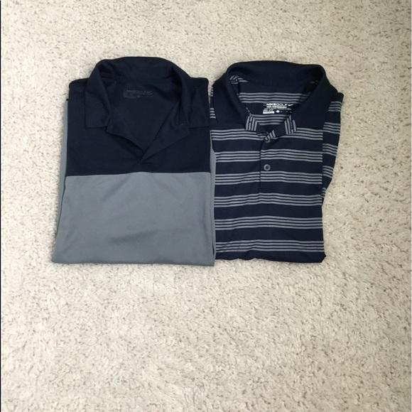 2 Men's Nike Golf Polo Dri Fit size M